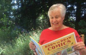 Writer Ginger Wadsworth reading Peanuts